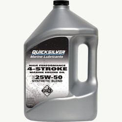 4 stroke outboard oil quicksilver products for How often to change synthetic blend motor oil
